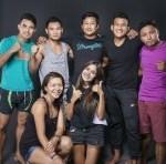 Muay thai professional team studio shoot